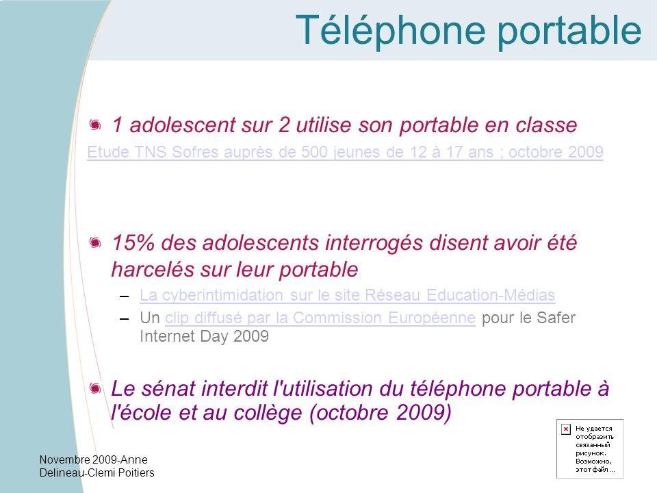 Téléphone portable 1 adolescent sur 2 utilise son portable en classe