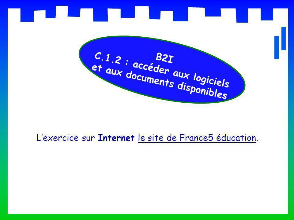 C.1.2 : accéder aux logiciels et aux documents disponibles