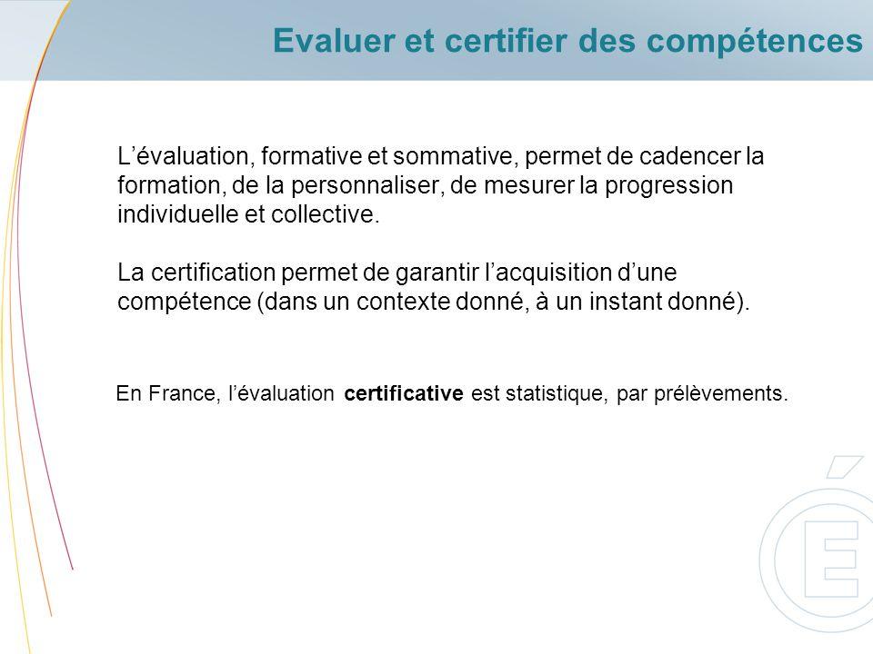 Evaluer et certifier des compétences