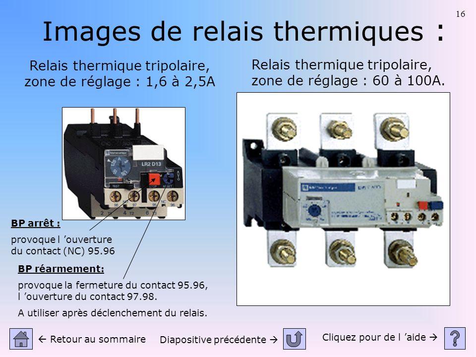Images de relais thermiques :