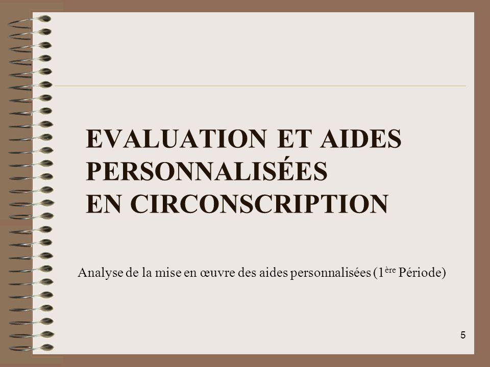 Evaluation et Aides Personnalisées en Circonscription