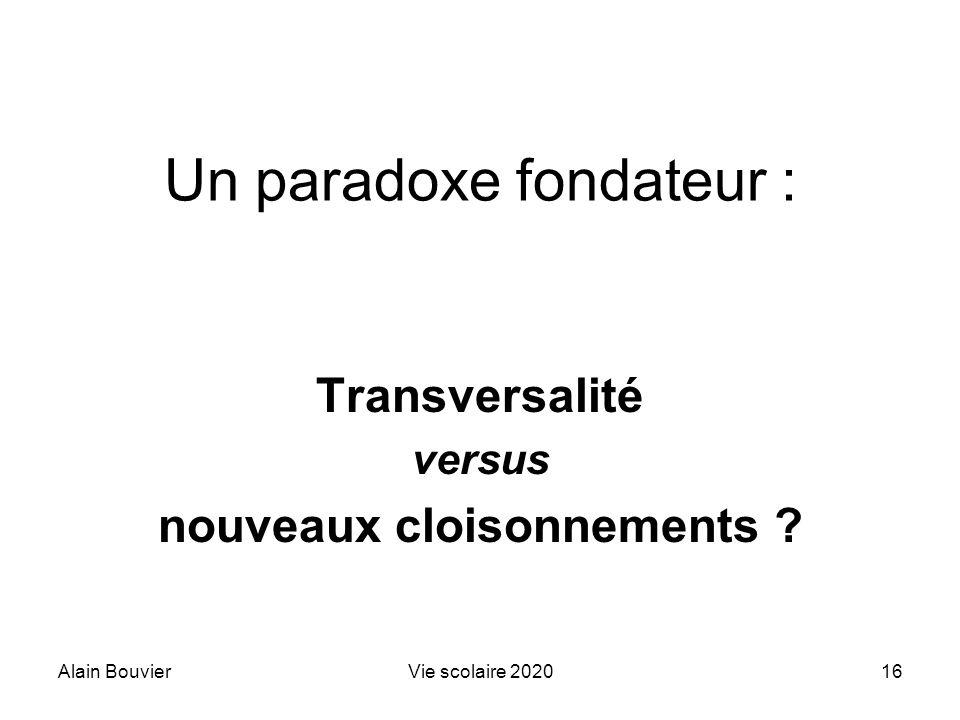 Un paradoxe fondateur :