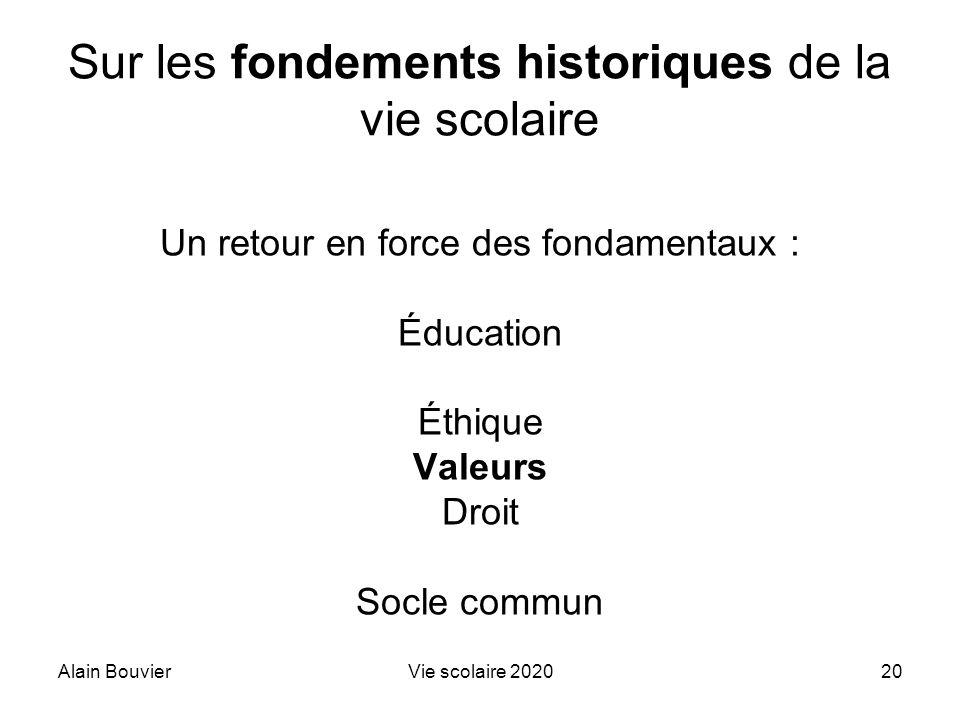 Sur les fondements historiques de la vie scolaire