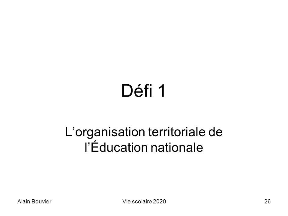 L'organisation territoriale de l'Éducation nationale