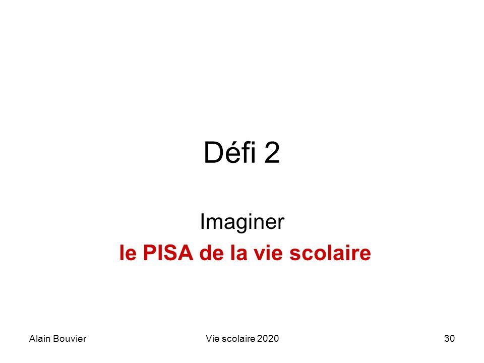 Recteur Alain Bouvier Imaginer le PISA de la vie scolaire