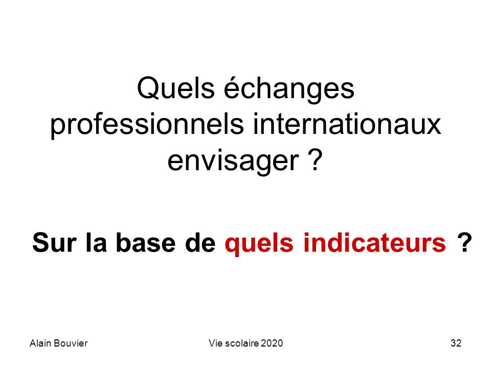 Quels échanges professionnels internationaux envisager