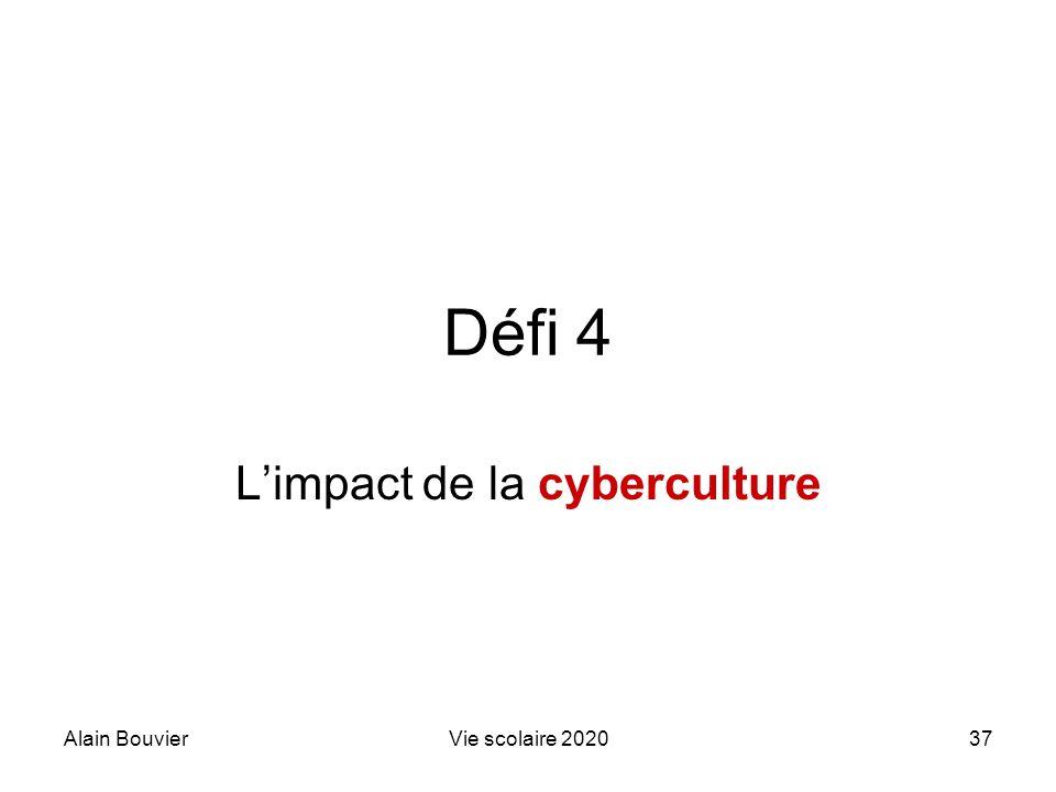 Recteur Alain Bouvier L'impact de la cyberculture