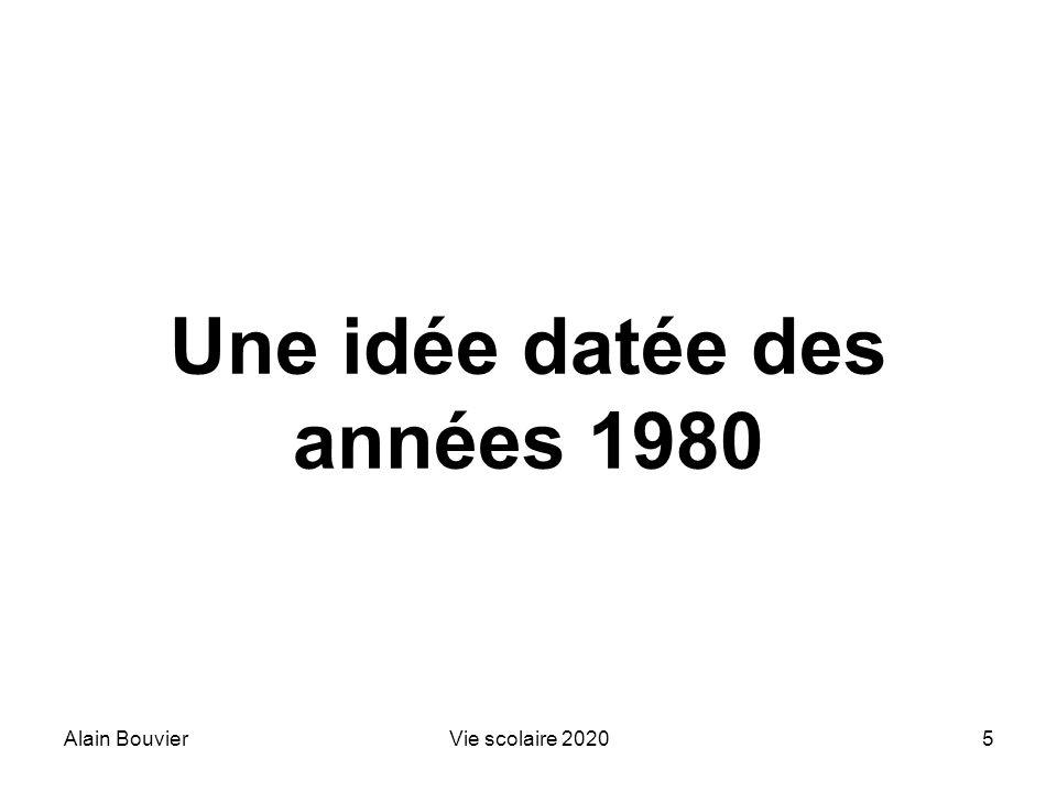 Une idée datée des années 1980