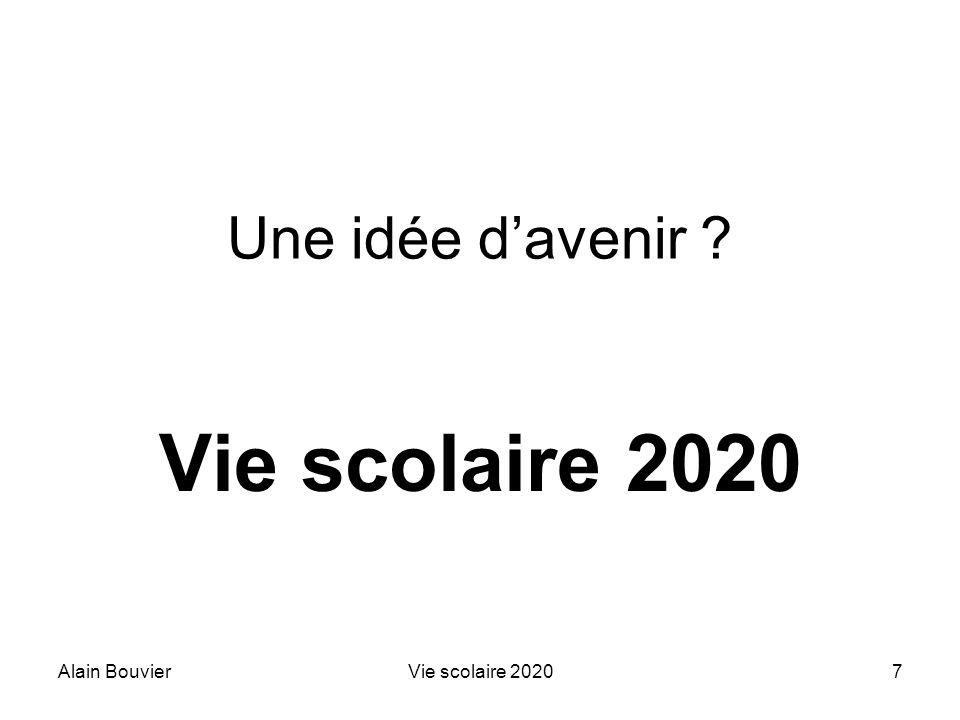 Recteur Alain Bouvier Vie scolaire 2020