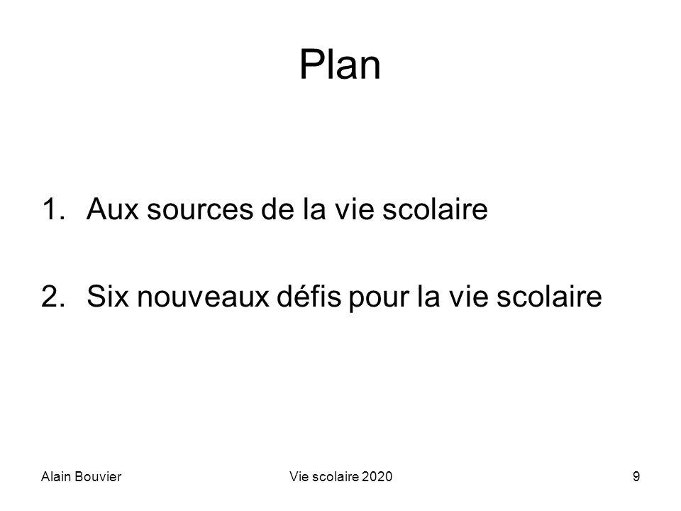 Plan Aux sources de la vie scolaire