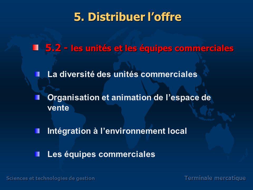 5.2 - les unités et les équipes commerciales