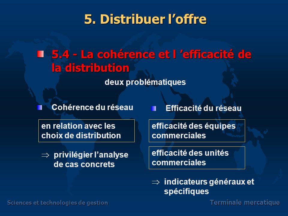 5.4 - La cohérence et l 'efficacité de la distribution