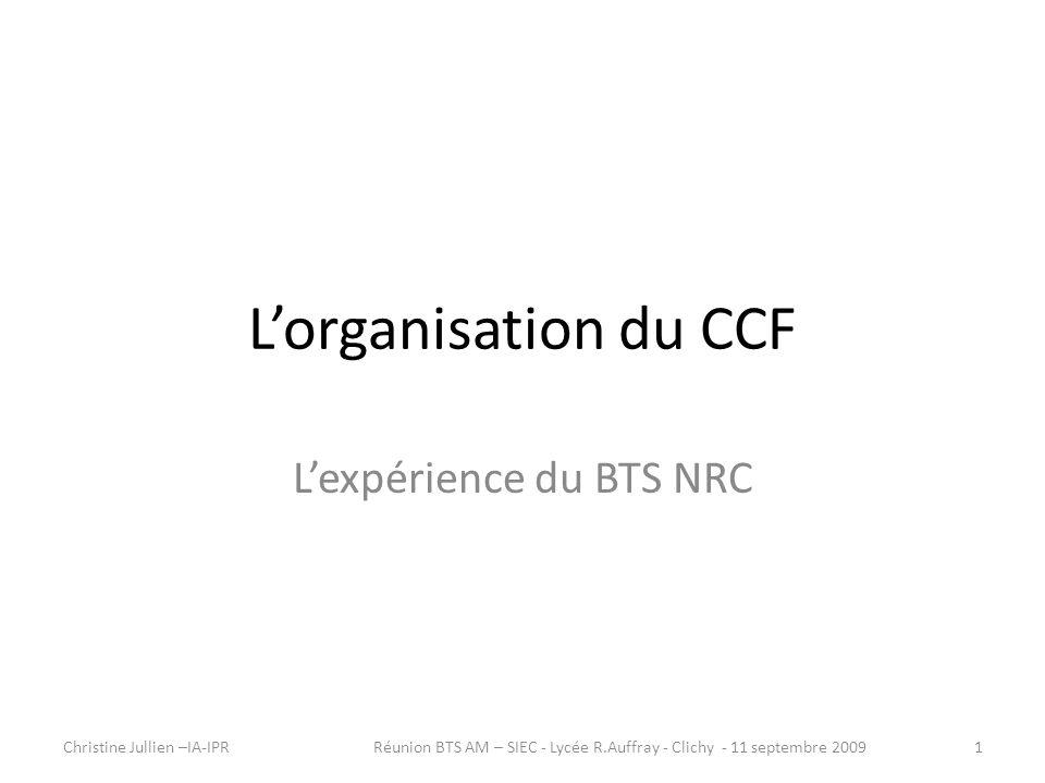 L'expérience du BTS NRC