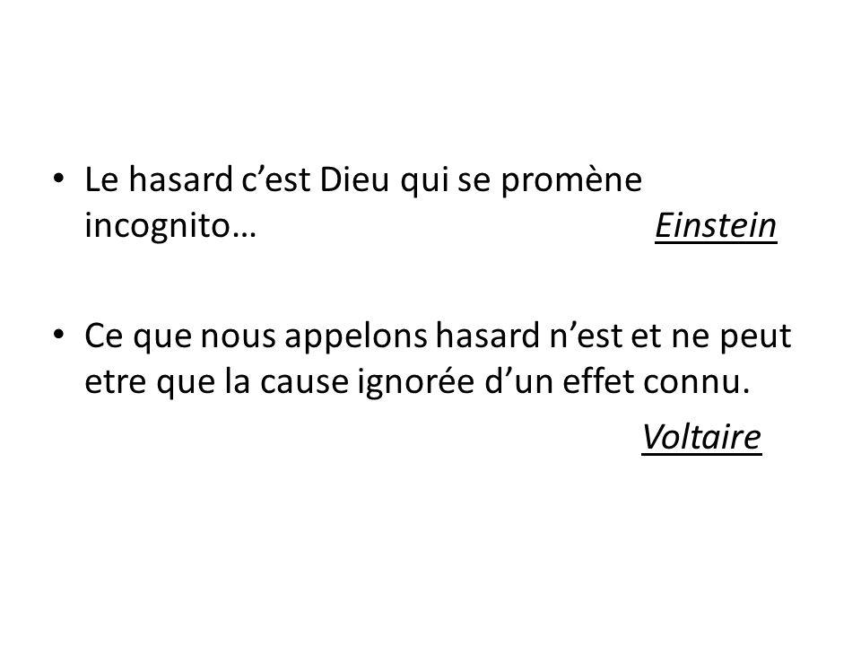 Le hasard c'est Dieu qui se promène incognito… Einstein