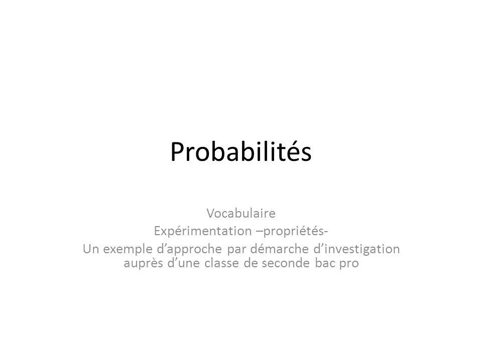 Expérimentation –propriétés-