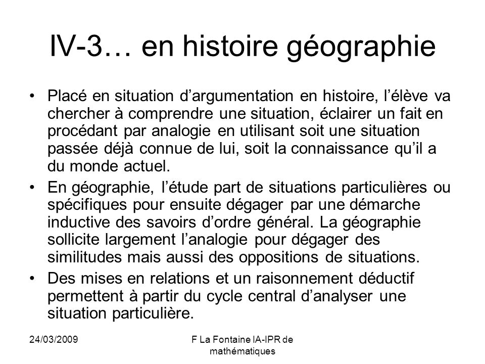 IV-3… en histoire géographie