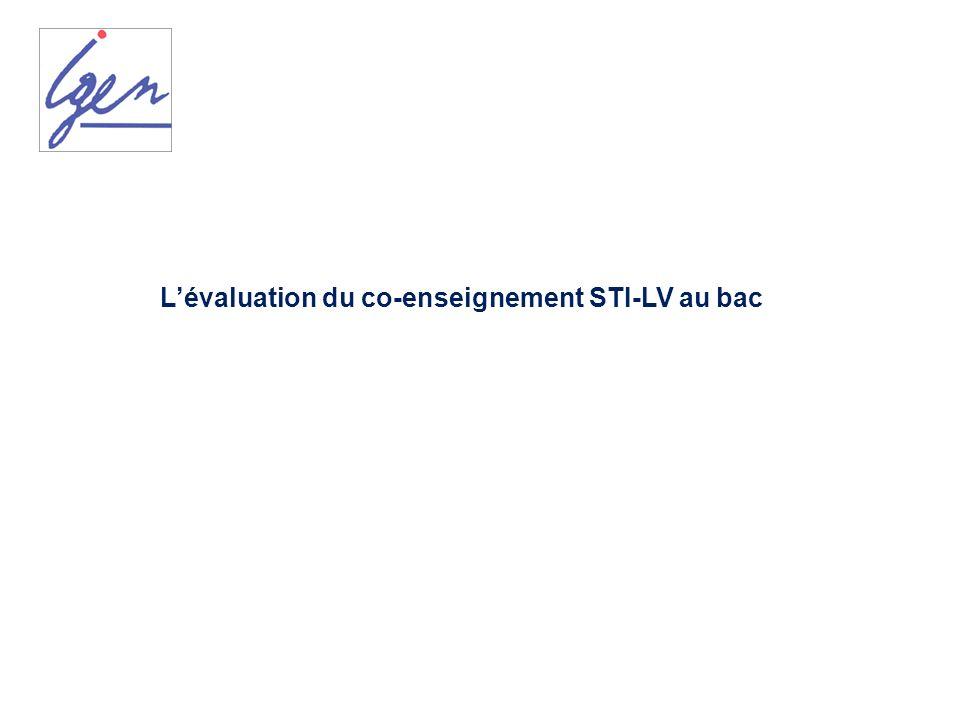 L'évaluation du co-enseignement STI-LV au bac