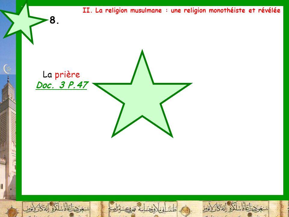 II. La religion musulmane : une religion monothéiste et révélée