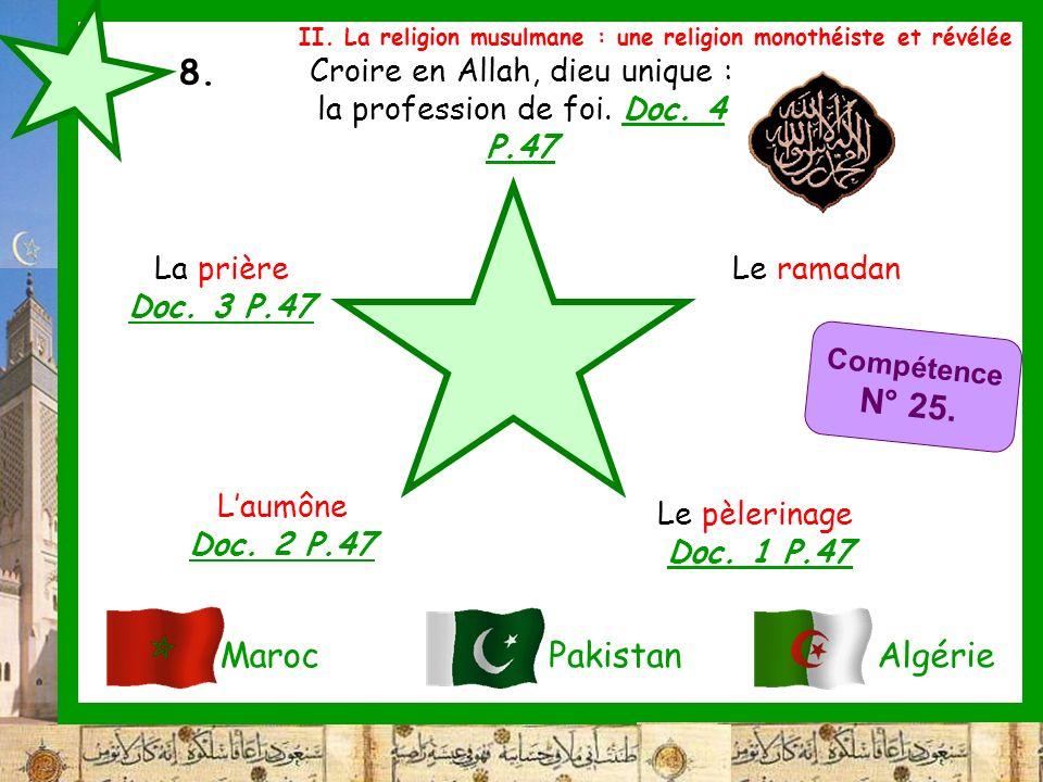 Croire en Allah, dieu unique : la profession de foi. Doc. 4 P.47