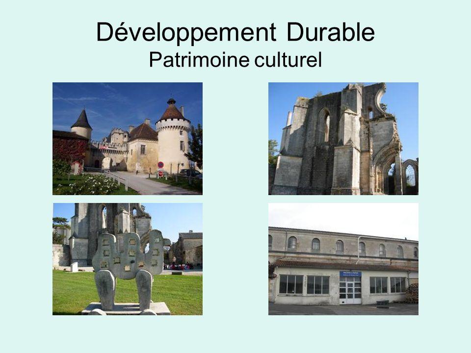 Développement Durable Patrimoine culturel