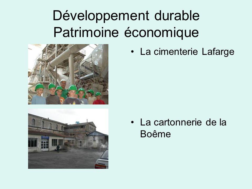 Développement durable Patrimoine économique