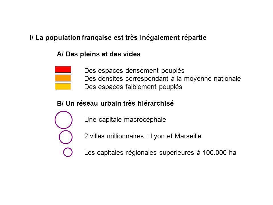 I/ La population française est très inégalement répartie