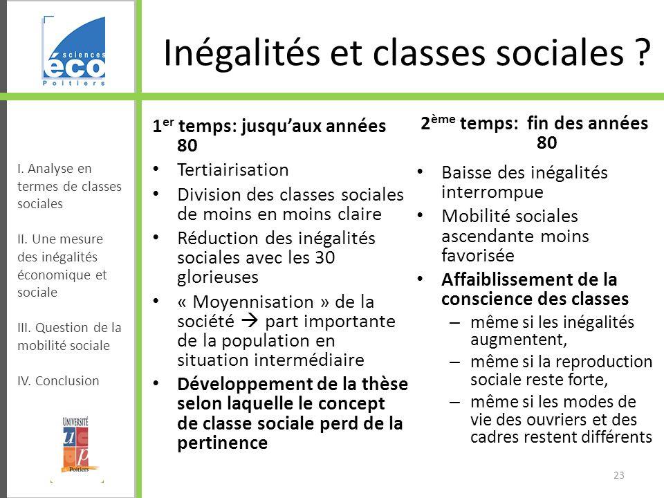 Inégalités et classes sociales