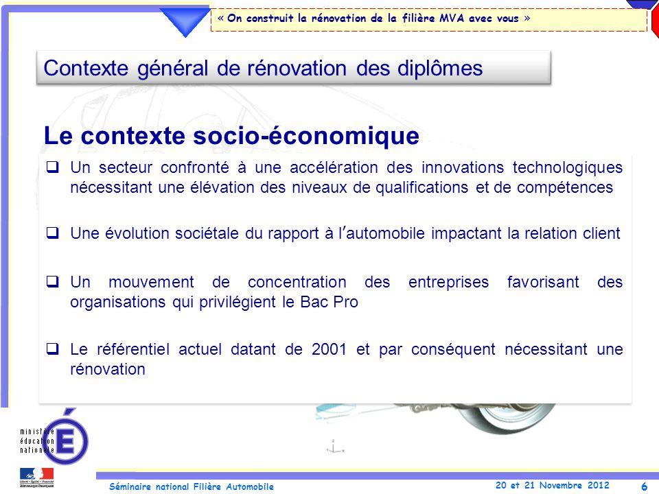 Le contexte socio-économique