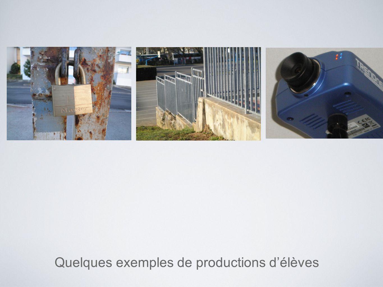 Quelques exemples de productions d'élèves
