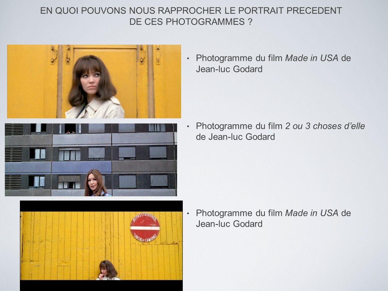 EN QUOI POUVONS NOUS RAPPROCHER LE PORTRAIT PRECEDENT DE CES PHOTOGRAMMES