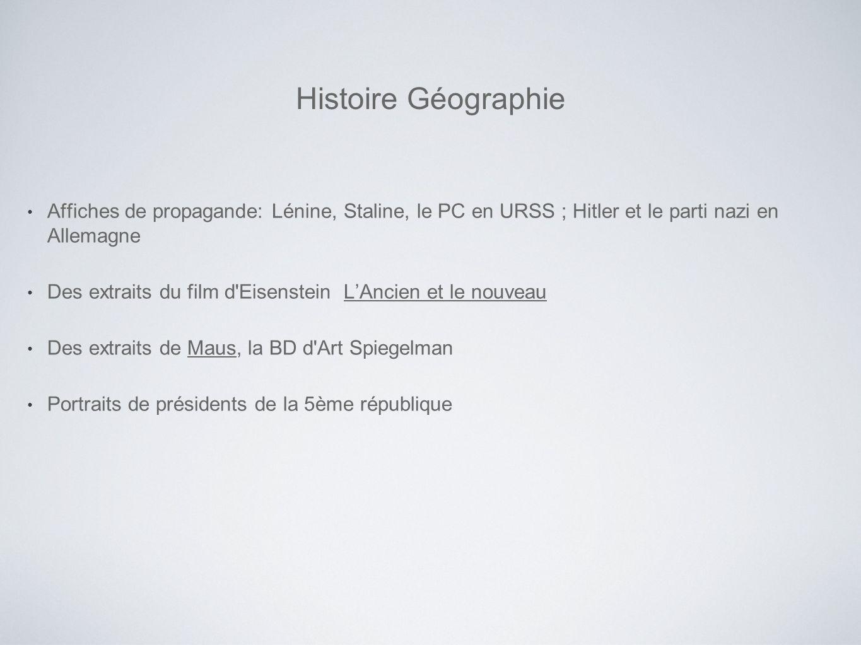 Histoire Géographie Affiches de propagande: Lénine, Staline, le PC en URSS ; Hitler et le parti nazi en Allemagne.