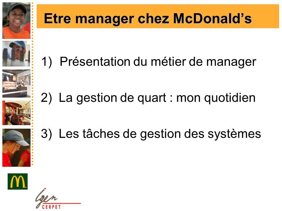Etre manager chez McDonald's