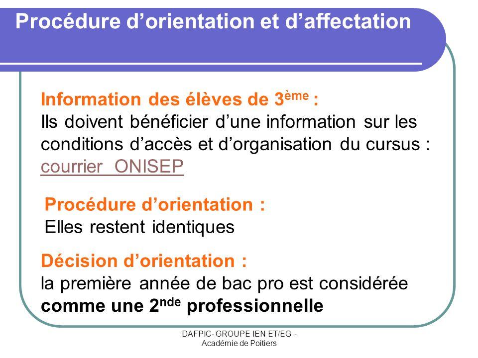 Procédure d'orientation et d'affectation