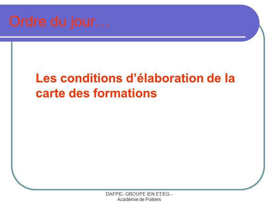 DAFPIC- GROUPE IEN ET/EG -Académie de Poitiers