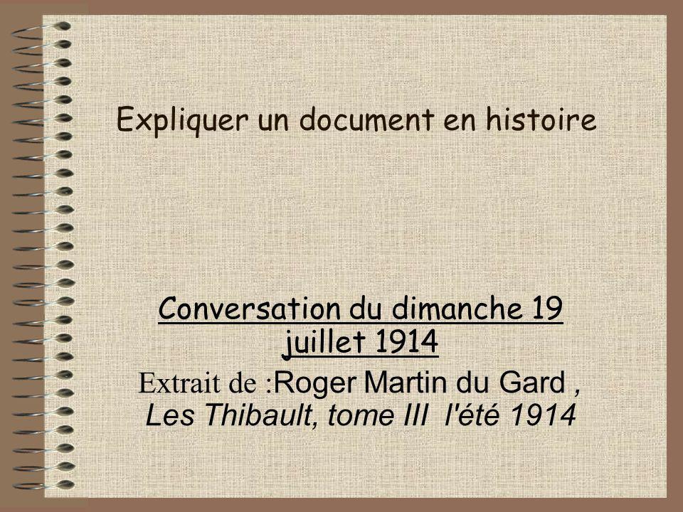 Expliquer un document en histoire