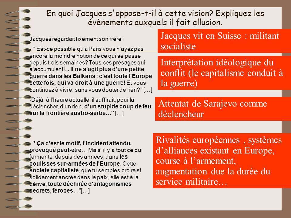 Jacques vit en Suisse : militant socialiste