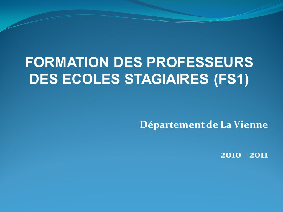 Département de La Vienne 2010 - 2011