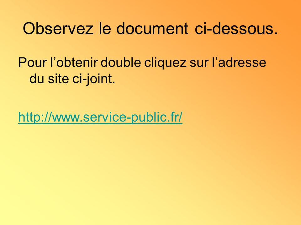 Observez le document ci-dessous.