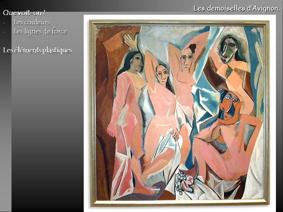 Les demoiselles d'Avignon. Que voit-on Les couleurs
