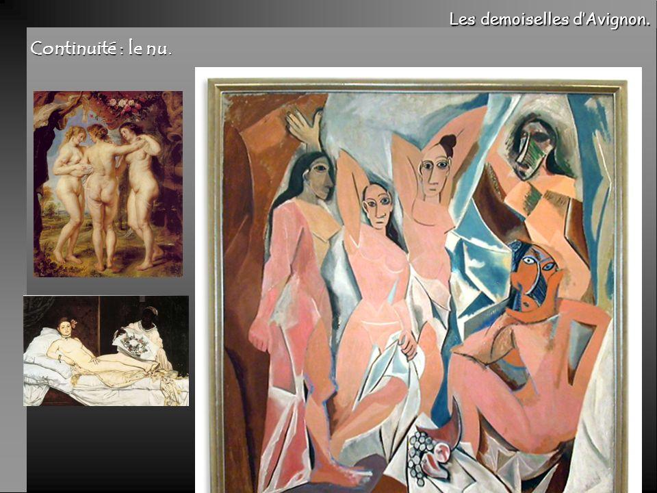 Continuité : le nu. Les demoiselles d'Avignon.