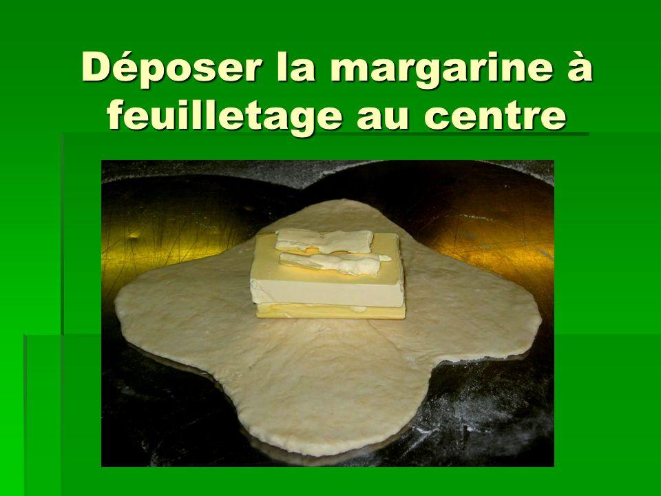 Déposer la margarine à feuilletage au centre