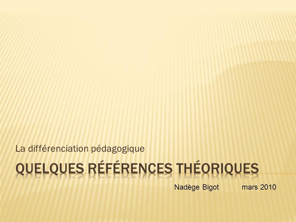 Quelques références théoriques