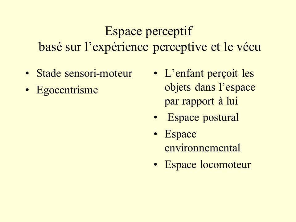 Espace perceptif basé sur l'expérience perceptive et le vécu