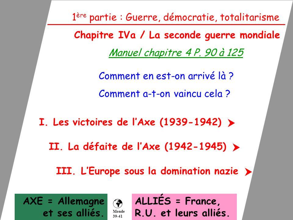    1ère partie : Guerre, démocratie, totalitarisme