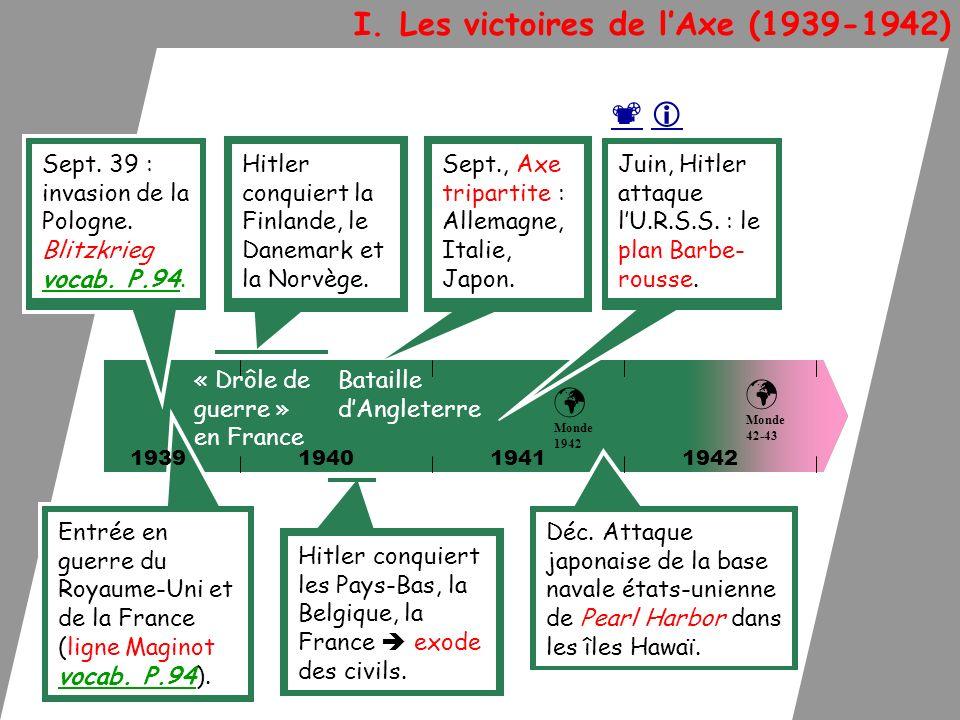 I. Les victoires de l'Axe (1939-1942)
