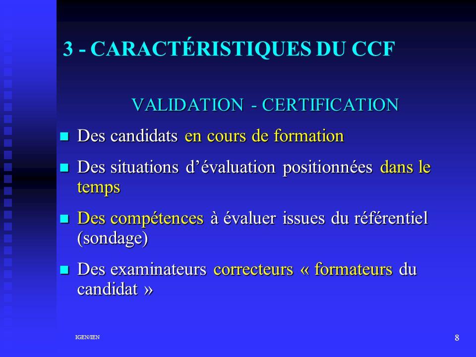 3 - CARACTÉRISTIQUES DU CCF
