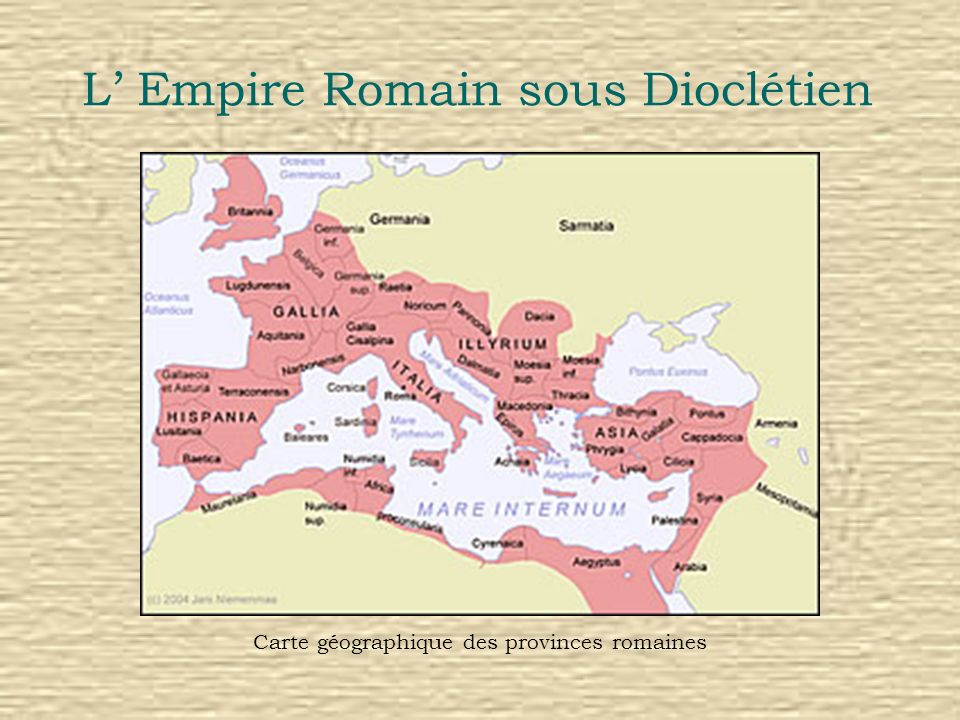 L' Empire Romain sous Dioclétien