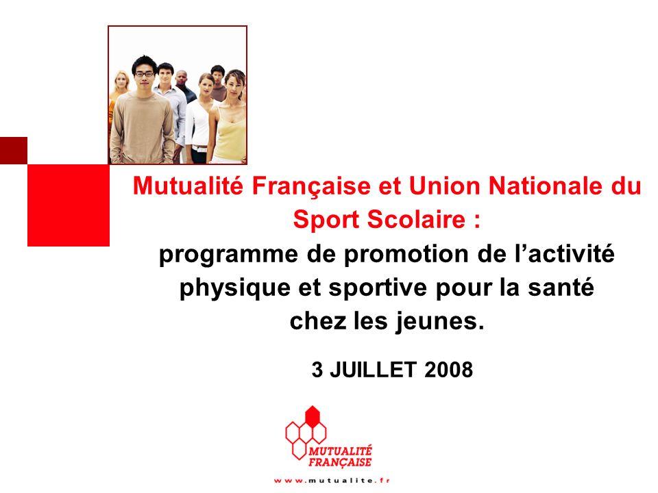 Mutualité Française et Union Nationale du Sport Scolaire : programme de promotion de l'activité physique et sportive pour la santé chez les jeunes.