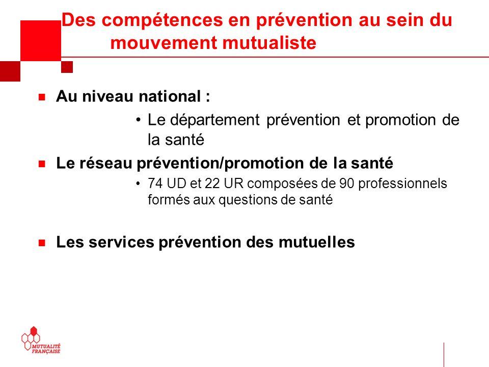 Des compétences en prévention au sein du mouvement mutualiste