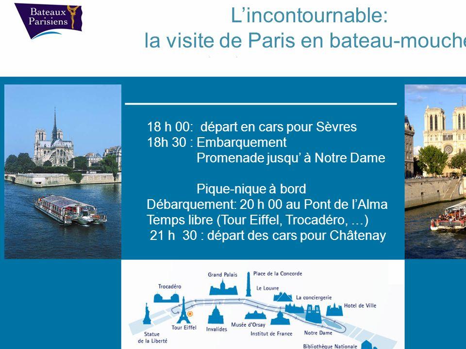 la visite de Paris en bateau-mouche